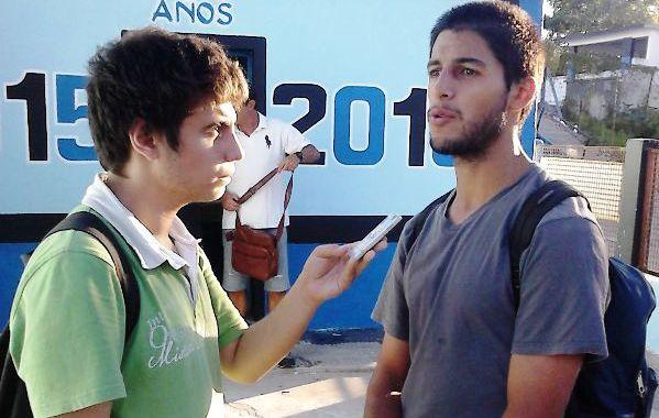 Debut en cancha de Iván Buela entrevistando a Facundo Mallo. La entrevista la podés escuchar el lunes a las 15.30 hs en Rumbo al Ascenso 1090 AM