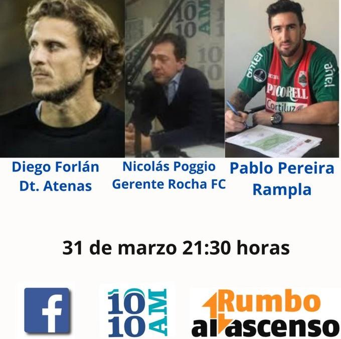 Miércoles:  Esta noche tendremos la palabra de Diego Forlán