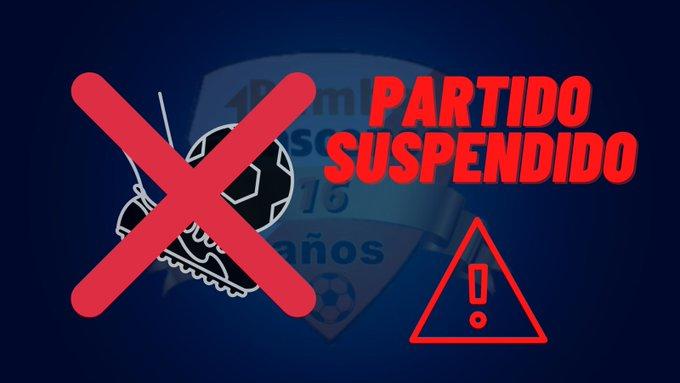 Racing y Villa Teresa suspendido